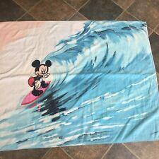 "Vtg 90s Mickey Mouse Surfing Beach Towel Disney 58 x 30"""