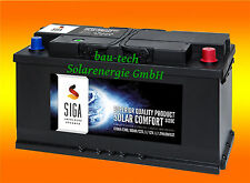 120Ah 12Volt Calcium Solar Batterie Akku Wohnmobil Boot Versorgungsbatterie