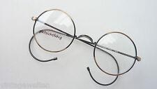 runde kleine Nickelbrille Antiklook Sportbügel ohne Nasenstege Vintage size S