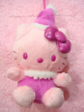 "100% AUTH SANRIO HELLO KITTY 7"" PINK CHRSTMAS MASCOT PLUSH DOLL TOY BNWT"
