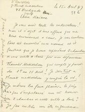 Louis-Ferdinand CELINE / Lettre autographe signée à J. Daragnès / Sur Mikkelsen.