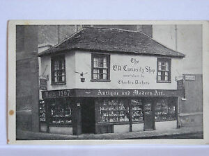 EARLY C20th CHARLES DICKENS OLD CURIOSITY SHOP POSTCARD UNUSED
