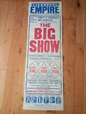LIVERPOOL EMPIRE 1916 theatre poster THE BIG SHOW george french