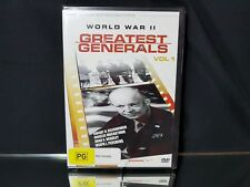 World War II Greatest Generals Volume 1 DVD Video NEW/Sealed