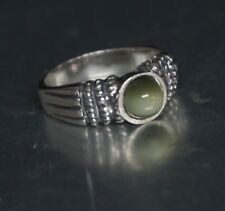 Sterling Silver Cats Eye Chrysoberyl Gemstone Ring of abundance and fortune 925