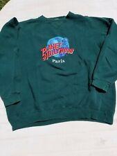 Vintage Planet Hollywood Paris Sweatshirt Green xl