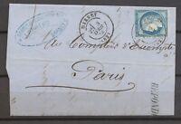1876 Lettre N°60 Obl par le CAD Type 17 DARNEY VOSGES (82) X3556