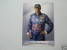 KARL WENDLINGER AUDI ABT SPORTSLINE TEAM REDBULL ADAC INFOCARD-POSTCARD