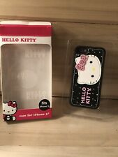 Hello Kitty Sanrio Case for Apple iPhone 5 5S  NIP Black Pink w Bling Pleather