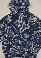 Polo Ralph Lauren Hoodie Hooded Sweatshirt Blue Floral Size XL NWT