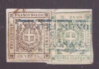 Modena, 5 e 15 centesimi Governo Provvisorio su piccolo frammento     -CV15