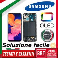 DISPLAY LCD+TOUCH SCREEN+FRAME OLED=ORIGINALE PER SAMSUNG GALAXY A10 SM-A105 F N