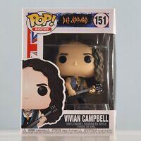 Funko POP! Rocks: Def Leppard - Vivian Campbell #151 with POP Box Protector