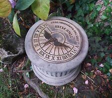 STONE GARDEN SWAN SUNDIAL BRASS WEATHERVANE GARDEN ORNAMENT ' TIME FLIES...'