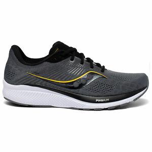 Saucony Mens Guide 14 Running Shoes -Coal/Vizigold