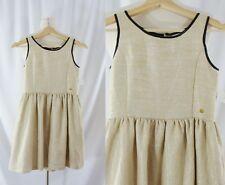 NWT Guess Girls Large 14 Gold Metallic Sleeveless Dress NEW