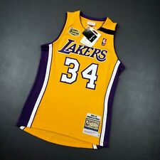 100% Authentic Shaquille O'Neal Mitchell Ness 99 00 Finals Lakers Jersey 36 S