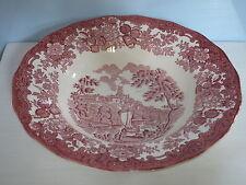Royal Worcester Avon Scenes PALISSY Rot England Suppenteller tiefer Teller