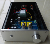 Finished Hifi 12AX7+12AT7 Tube Preamplifier base on  Matisse circuit      L17-42