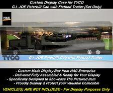 Custom Display Case:  TYCO GI JOE PETERBILT with FLATBED TRAILER  * NEW DESIGN *