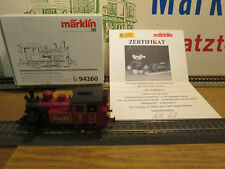 "(MB) Märklin 94260 "" 100 Years Steiff Tray Certificate 2004 New Original Box Top"