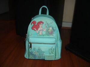 LOUNGEFLY DISNEY LITTLE MERMAID KISS THE GIRL MINI BACKPACK~ WITH TAGS~NEW~