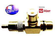 From OZ Quality 1PC MALE FEMALE AV RCA Splitter Adapter Socket Plug Connector FP