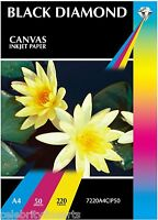 50 Sheets Photographic A4 Canvas Textured Inkjet Paper 220gsm Heavyweight Media