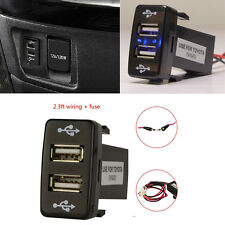 5V 2.1A Dual 2 Port USB Charger Car For Toyota FJ Cruiser Fortuner Hilux 07-2014