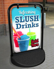 ICE SLUSH DRINKS PAVEMENT SIGN ADVERTISING STREET DISPLAY, A-Board