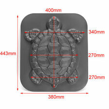 Tortoise Garden Path Stone Mold Concrete Cement Mould Turtle Stepping ABS Black