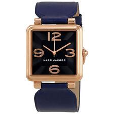 Marc Jacobs Vic Black Dial Ladies Leather Watch MJ1530
