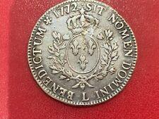 Louis XV Ecu à la vieille tête 1772 L Bayonne TB + - Louis XV 1715-1774