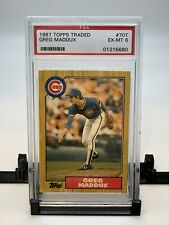 Greg Maddux 1987 topps Traded #70T PSA Ex-MT 6 Bundle of 10 Cards