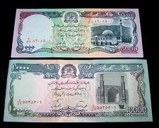 1 x Afghanistan 10000 (10,000) & 5000 (5,000) Afghanis UNC /P-62 &  P-63