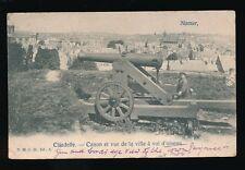 Belgium CITADELLE Canon + view over town 1904 PPC