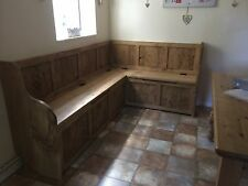 4FT x 6FT Corner Dining Bench with Storage (MADE TO ANY SIZE)