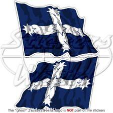 "Australia EUREKA STOCKADE Flying Flag 4,7"" (120mm) Vinyl Bumper Sticker Decal x2"