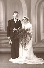 Bradford photo. Wedding Couple by H. Stansfield, 880 Wakefield Road, Dudley Hill