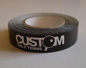 Custom Table Tennis Bat Edge Tape Roll 12mm x 5m for 10 Bats New