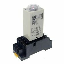 220V H3Y-4 Power On Time Delay Relay Solid-State Timer 1~30Min 4PDT 14Pin&Socket