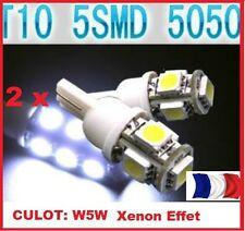2 Ampoules LED T10 culot  W5W 5 SMD Blanc Xenon