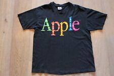 Vintage 90s Apple Rainbow Logo T-Shirt Size XL Black Tee Computers Macintosh Lot