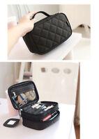 Double Layer Cosmetic Bag Multifunction Makeup Case Storage Brush Organizer