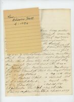 1871 Handwritten Letter Rev Edson Hart genealogy New Albany NY Paducah Priestly