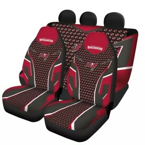 Tampa Bay Buccaneers Auto Seat Cover Car Truck SUV 5 Seater Front Rear Protector