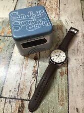 Fossil FS4735IE Grant Chronograph Cream Dial 44mm Men's Watch *Read*
