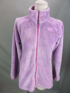 The North Face Size XL/18 Girls Purple Full Zip w/Pockets Fleece Jacket T027
