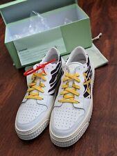 NEW Off-White Low Top Polo 3.0 Sneaker - 44UK/11US - Zebra/White/Yellow