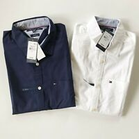 NWT Tommy Hilfiger Men's Slim Fit Short Sleeve Oxford TH FLEX Stretch Shirt